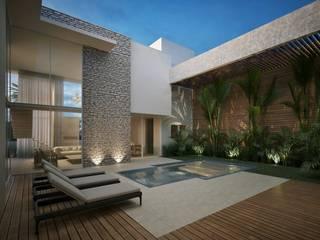 Residência EM: Casas  por Marcos Baldasso Arquitetura