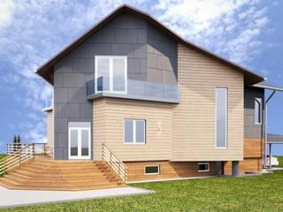 Светлый и просторный жилой дом для молодой семьи. от дизайн-студия PandaDom Модерн