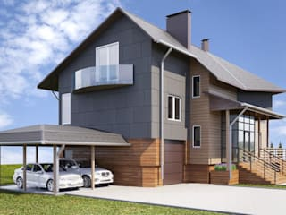Single family home by дизайн-студия PandaDom, Modern