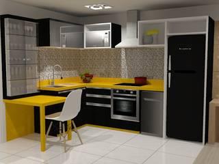 Cozinha Estudio: Cozinhas  por Projetos Secilia Garrido,Minimalista