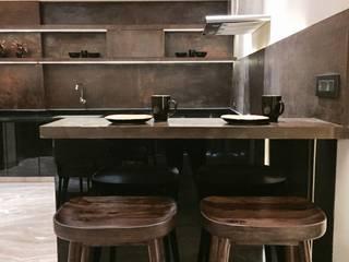 Iscon Platinum Show Apartment Modern kitchen by Studio R designs Modern