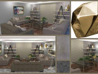 Sala de TV Salones modernos de Toque De Menta Moderno