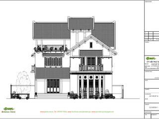Biệt thự phong cách Phương Đông bởi Công ty TNHH Thiết kế và Ứng dụng QBEST Nhiệt đới