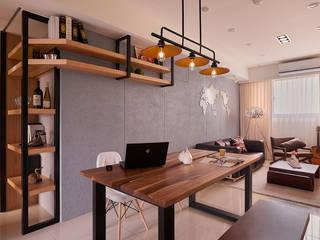 餐廳(多功能機能桌) 趙玲室內設計 Industrial style dining room