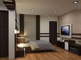 INTERIOR DESIGN OF HOTEL ROOMS:   by RED PAPER DESIGNERS PVT. LTD.