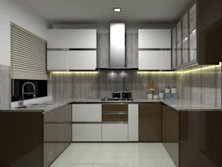 INTERIOR DESIGN OF RESIDENCE by RED PAPER DESIGNERS PVT. LTD.