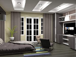 INTERIOR DESIGN OF RESIDENCE:   by RED PAPER DESIGNERS PVT. LTD.