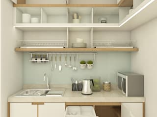 Interior Rumah Tinggal dan Klinik Obgyn:  Unit dapur by SCIArchitecture
