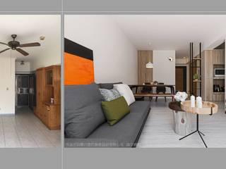 樸.淨:  客廳 by 築川室內裝修設計有限公司