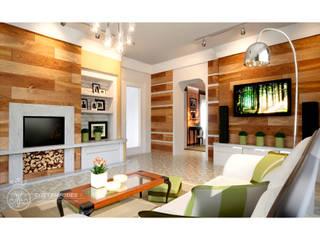 Современный интерьер в еклектическом стиле Гостиные в эклектичном стиле от Мастерская дизайна 'Contempodes' Эклектичный