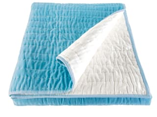 Opal Duck Egg Blue Hand Quilted Velvet Bedspread:   by Ragged Rose