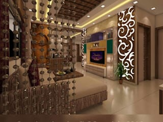 :  Living room by Creazione Interiors