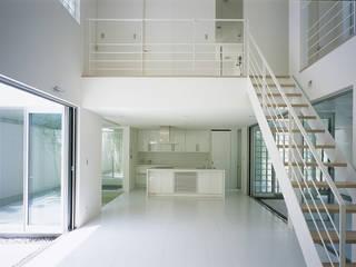 新小岩の家 Studio Noa モダンスタイルの 玄関&廊下&階段