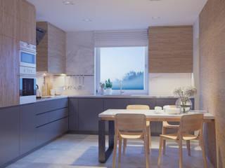 wnętrze domu jednorodzinnego: styl , w kategorii  zaprojektowany przez Dorota Zamojska Architektura Wnętrz Grafika 3D