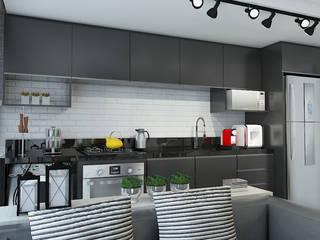 Studio Vila Real: Cozinhas  por Leticia De Col Arquitetura e Interiores,Moderno