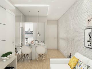 Apartamento Bellagio: Salas de jantar  por Leticia De Col Arquitetura e Interiores,Moderno