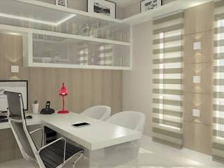 Casa Jardim das Américas : Escritórios  por Leticia De Col Arquitetura e Interiores,Moderno