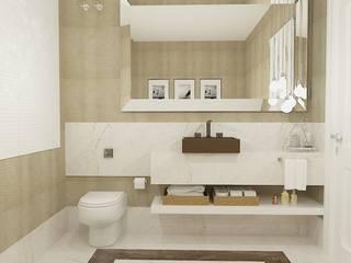 Casa Jardim das Américas : Banheiros  por Leticia De Col Arquitetura e Interiores,Moderno
