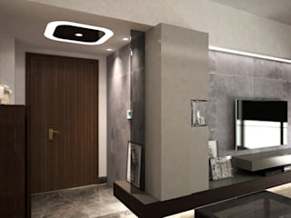 Cadogan | Kennedy Town | Hong Kong:  Living room by Nelson W Design