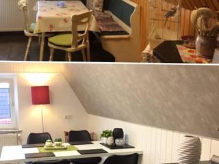 Küchenverwandlung Vorher/Nachher, Kitchen Make-over von NICE Homestaging