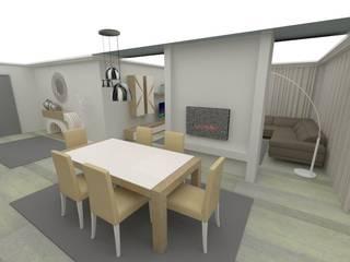 Projecto 3D - felgueiras 2017: Salas de jantar  por RYU atelier de interiores ,Moderno