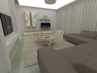 Projecto 3D - felgueiras 2017: Salas de estar  por RYU atelier de interiores ,Moderno