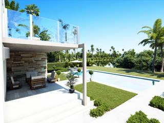 Imagen del porche:  de estilo  de Rimolo & Grosso, arquitectos