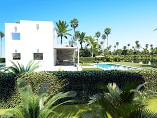 Lateral Oeste:  de estilo  de Rimolo & Grosso, arquitectos