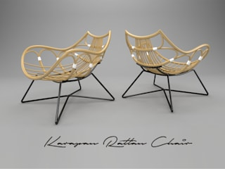 Karapan Rattan Chair Kesan Mendalam Design Studio Living roomStools & chairs