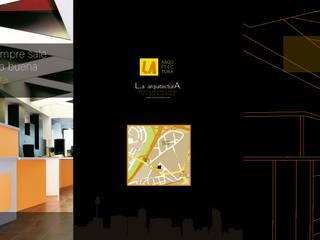 Oficina Avenida de la Albufera Estudios y despachos de estilo rústico de Arsitek Rústico