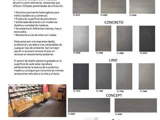 Vinilico Gea floor Fortress: Estudios y oficinas de estilo  por ACI BAIRES