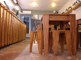 aponto Gastronomie rustique Bois massif Effet bois