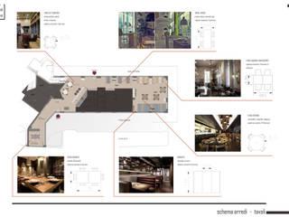 layout interno: Negozi & Locali commerciali in stile  di Silvana Barbato, StudioAtelier