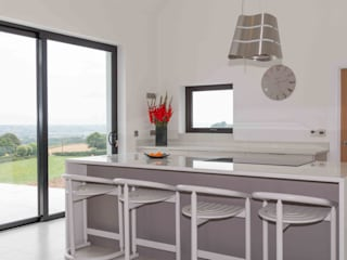 Minimalist Rural Home ADORNAS KITCHENS Built-in kitchens Wood Beige