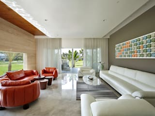 kabir bungalow Modern living room by USINE STUDIO Modern