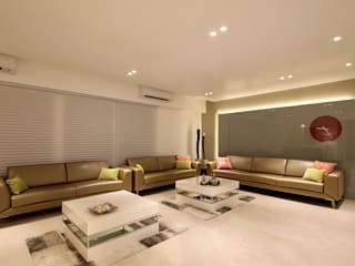 safal penthouse Modern living room by USINE STUDIO Modern