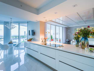 NIVEL TRES ARQUITECTURA Modern kitchen Quartz White