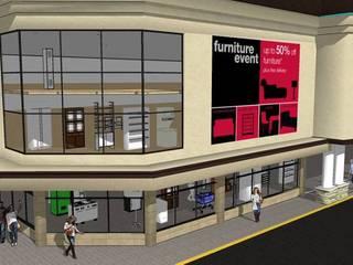fperspectiva: Espacios comerciales de estilo  por DAC DISEÑO ARQUITECTURA Y CONSTRUCCION