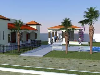 casa de campo: Salones para eventos de estilo  por DAC DISEÑO ARQUITECTURA Y CONSTRUCCION