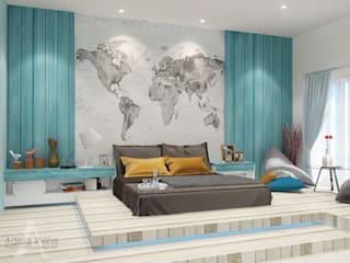 """""""BEACH"""" concept for kids bedroom: Kamar Tidur oleh AIRE INTERIOR , Country"""