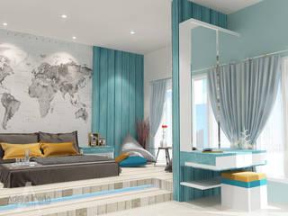 """BEACH"" concept for kids bedroom: Kamar Tidur oleh AIRE INTERIOR ,"