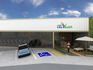 Espaces de bureaux industriels par Hizzey Arquitetura e Interiores Industriel