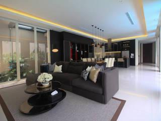 SL RESIDENCE ALIGN architecture interior & design Ruang Keluarga Tropis