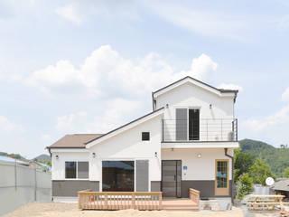 무주 대소리 목조주택 (30py): 한다움건설의  목조 주택