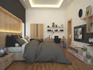 - Kamar Tidur Modern Oleh Pencil Creative Design Modern Kayu Wood effect