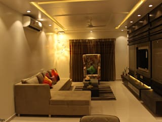 Mystic Moods,Pune Modern living room by H interior Design Modern