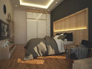 Master Bedroom:  Kamar Tidur by Pencil Creative Design