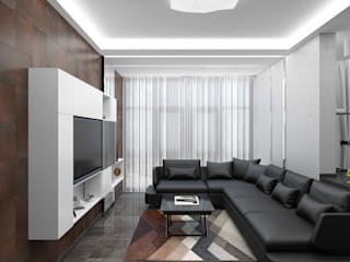 Salones de estilo minimalista de Студия дизайна и декора Светланы Фрунзе Minimalista