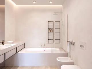 Flat_PN Ванная комната в стиле минимализм от ECOForma Минимализм