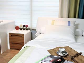 한강밤섬자이_2: thedesigns의  침실